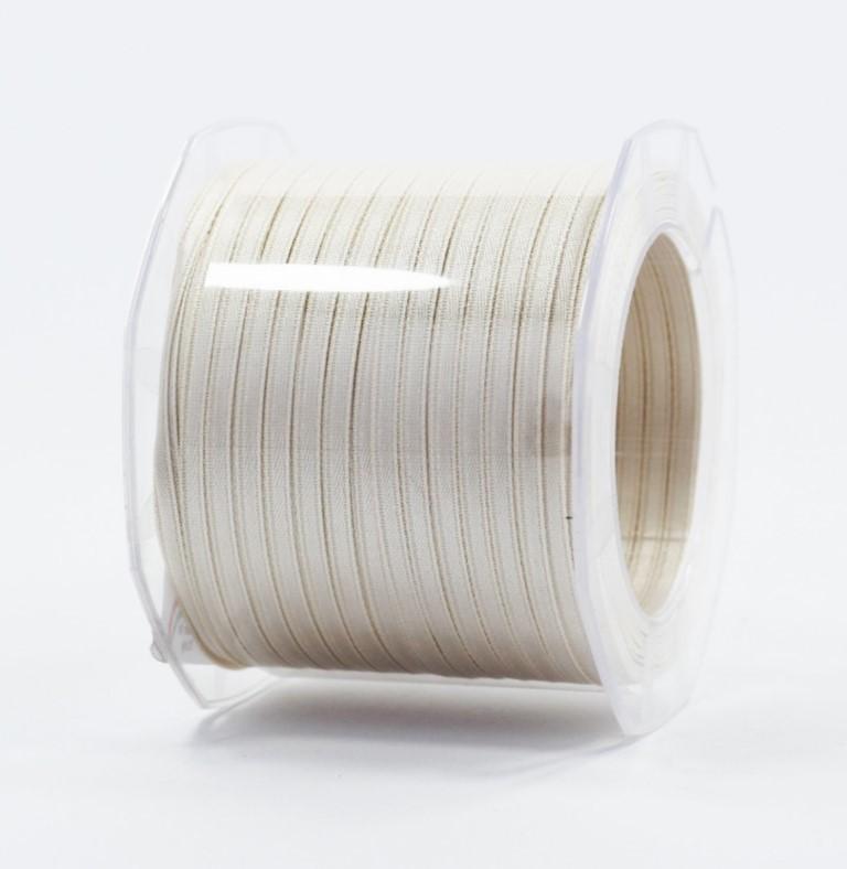 Furlanis nastro di raso avorio colore 35 mm.3  Mt.100