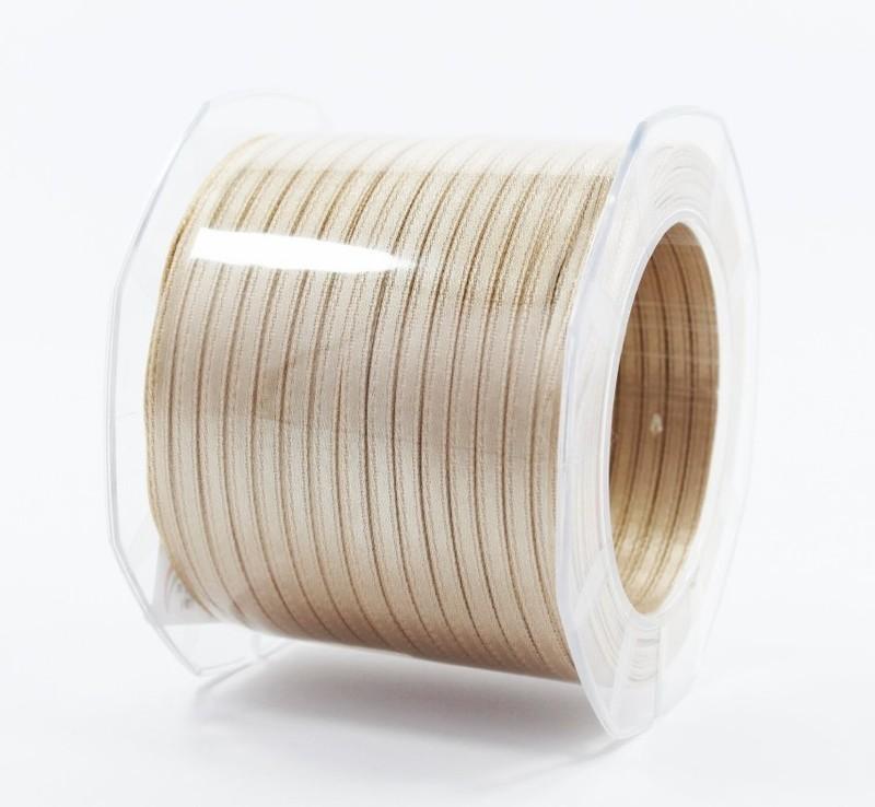 Furlanis nastro di raso beige chiaro colore 2 mm.3  Mt.100