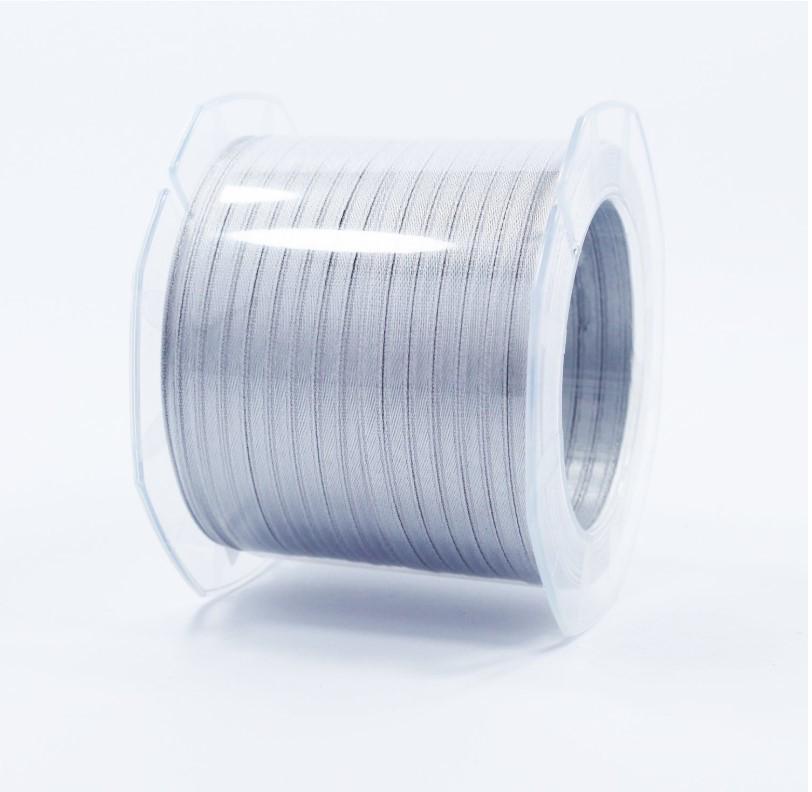 Furlanis nastro di raso grigio perla colore 73 mm.3  Mt.100