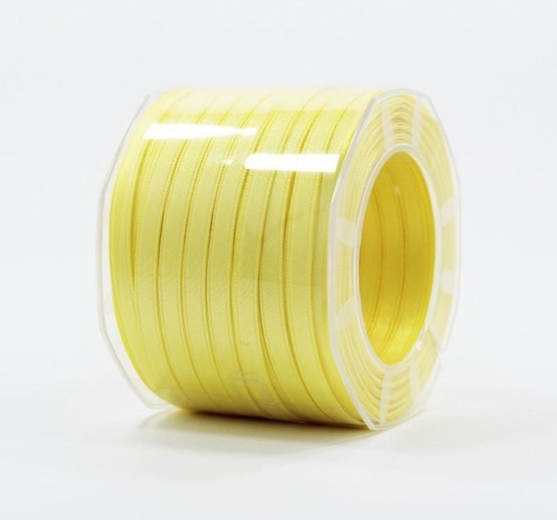 Furlanis nastro di raso giallo chiaro colore 428 mm.6 Mt.100