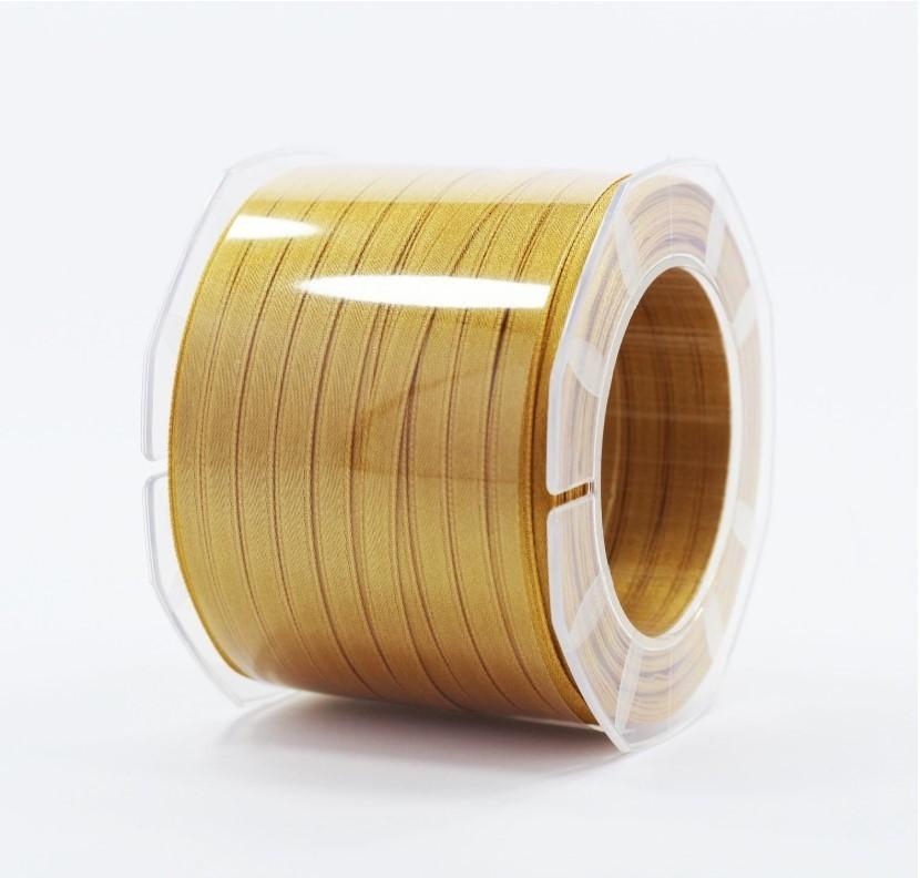 Furlanis nastro di raso giallo ocra colore 1085 mm.6 Mt.100