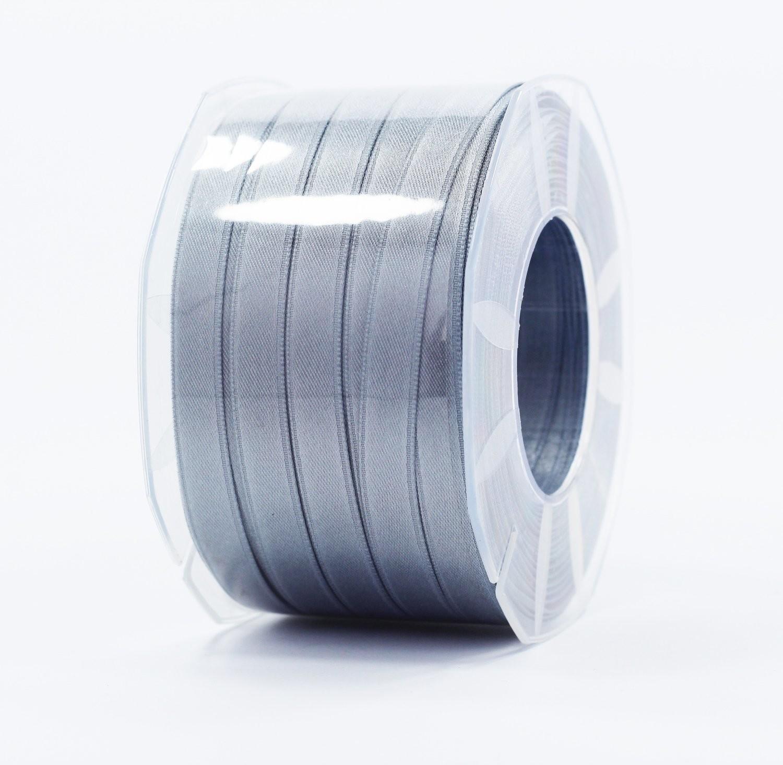 Furlanis nastro di raso grigio medio colore 75 mm.10 Mt.100