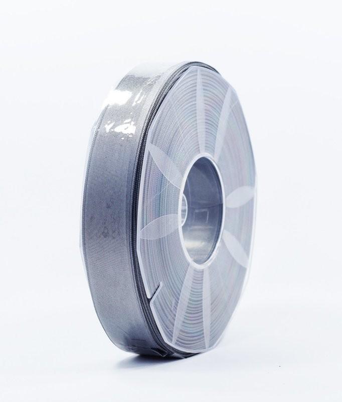 Furlanis nastro di raso grigio medio colore 75 mm.25 Mt.50