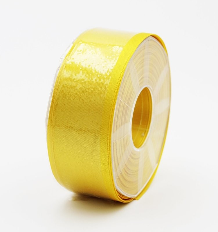 Furlanis nastro di raso giallo scuro colore 430 mm.40 Mt.25