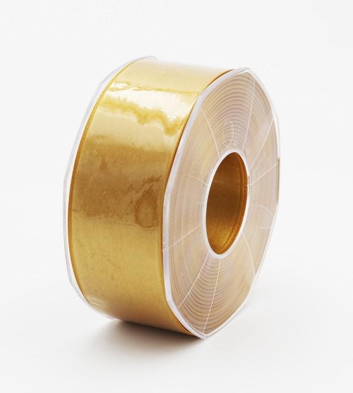 Furlanis nastro di raso giallo ocra colore 1085 mm.40 Mt.25