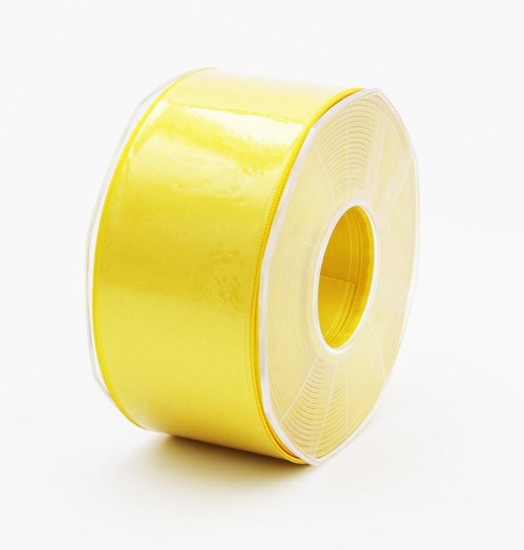 Furlanis nastro di raso giallo scuro colore 430 mm. 48 Mt. 25