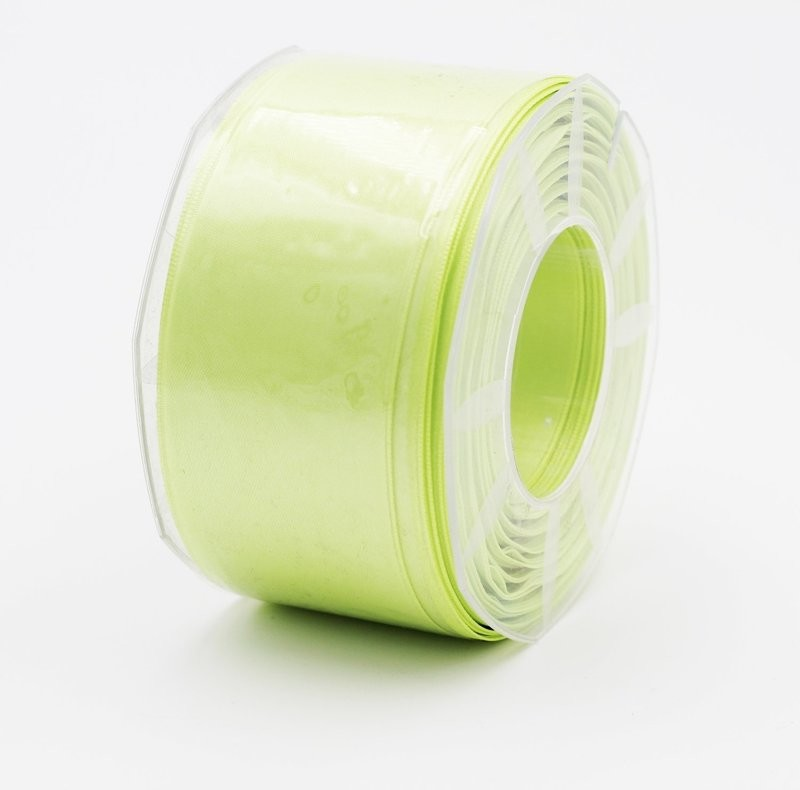 Furlanis nastro di raso verde chiaro colore 119 mm. 48 Mt. 25