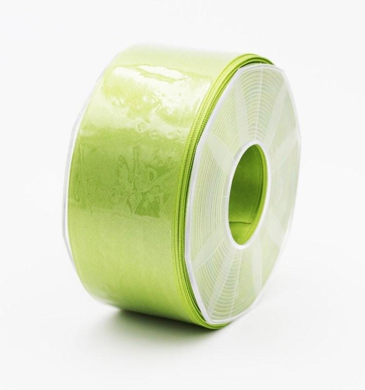 Furlanis nastro di raso verde mela colore 139 mm. 48 Mt. 25
