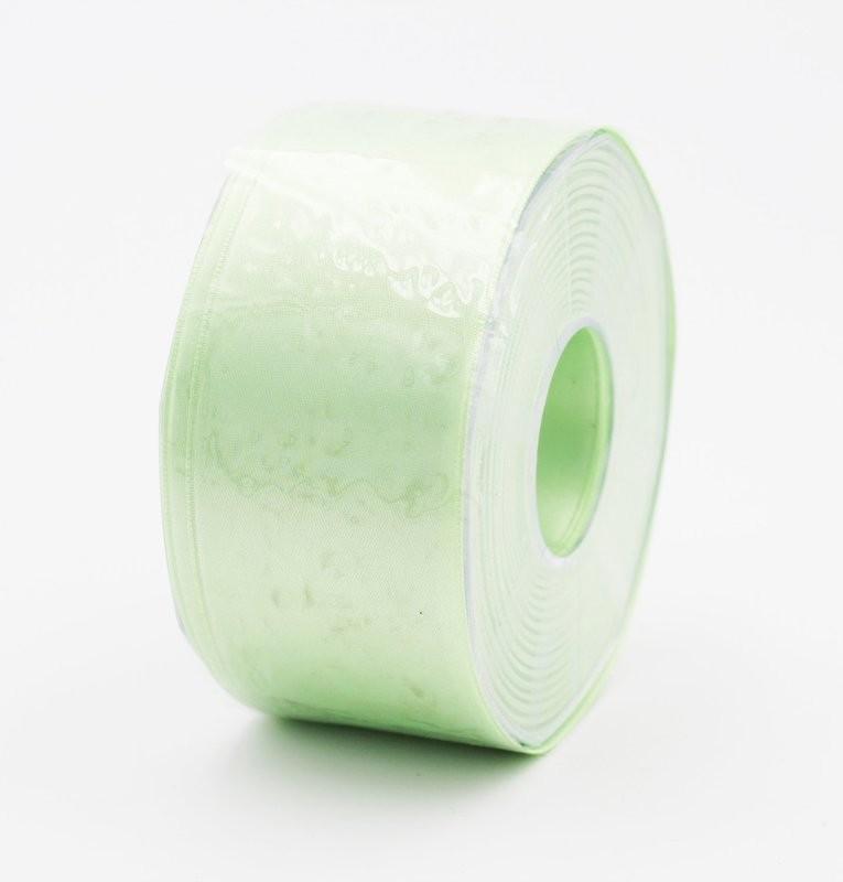 Furlanis nastro di raso verde menta colore 549 mm. 48 Mt. 25