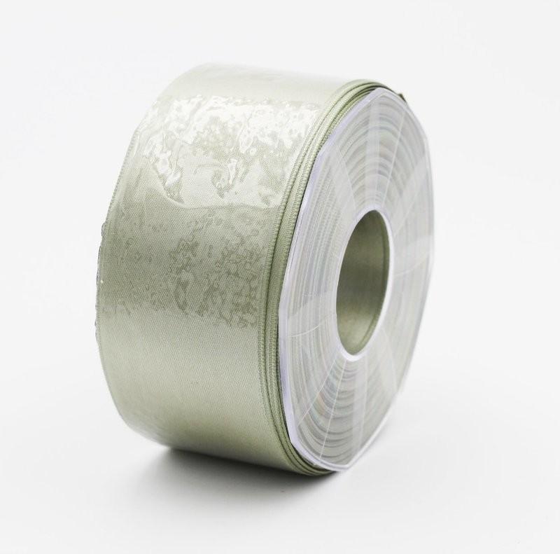 Furlanis nastro di raso verde salvia colore 15 mm. 48 Mt. 25