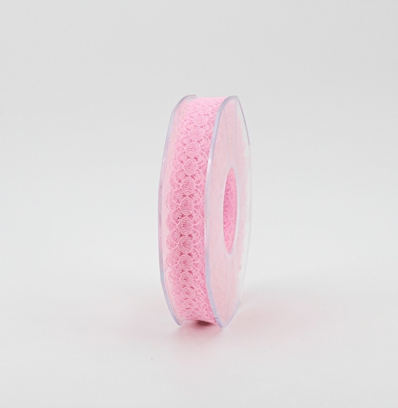 Furlanis nastro pizzo nylon rosa colore 20 mm.15 Mt. 25