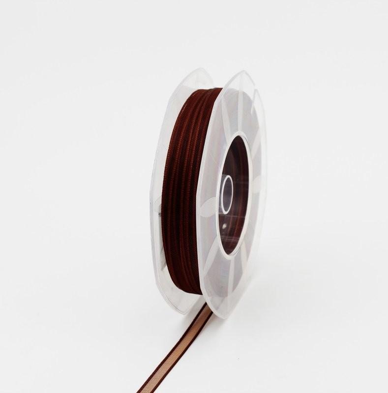 Furlanis nastro organza marrone colore 44 mm.6 Mt. 50