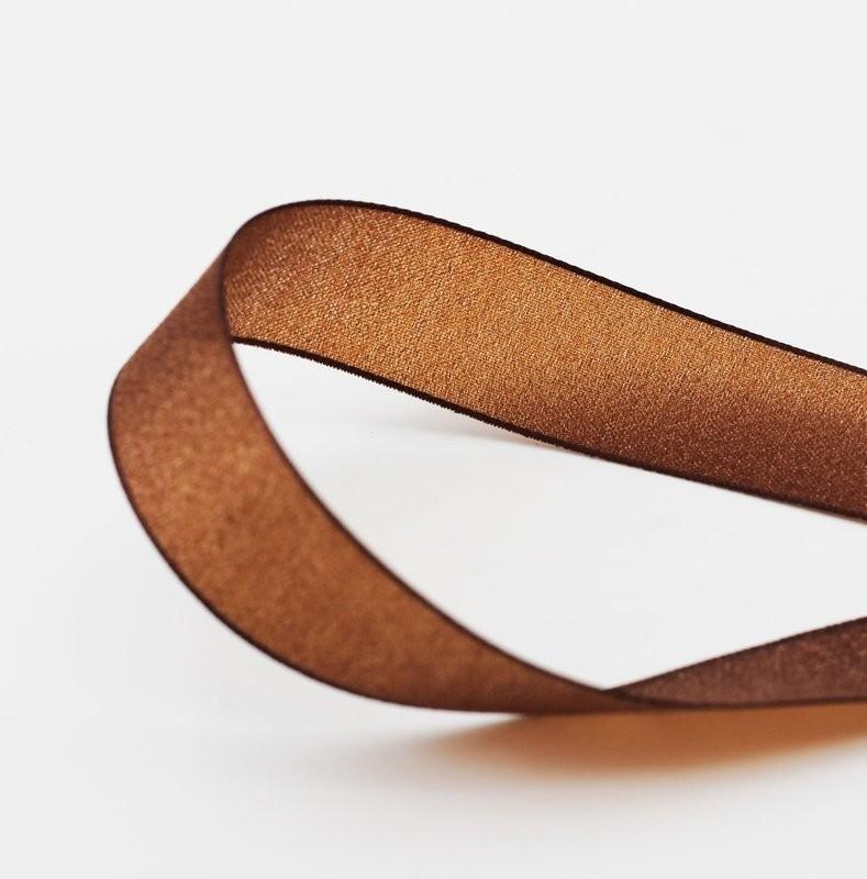 Furlanis nastro velo luminoso marrone colore 44 mm. 25 Mt. 20