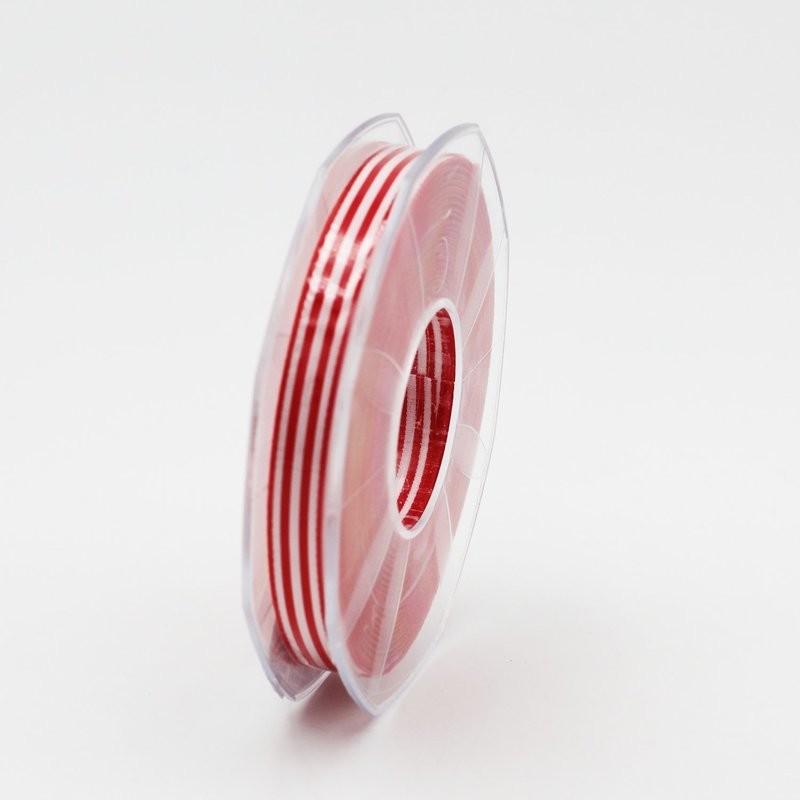 Furlanis nastro bamby rigato rosso colore 31 mm.10 Mt. 25
