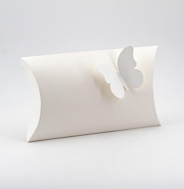 Scatola busta seta bianco Pz.10