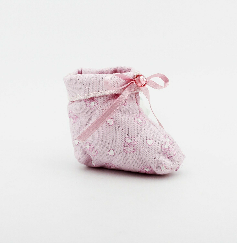 Sacchetto forma scarpetta rosa Pz. 15