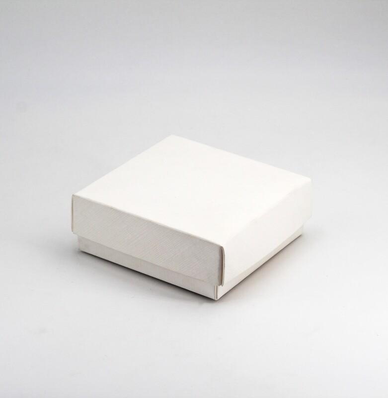 Scatola fondo e coperchio seta bianco Pz. 10