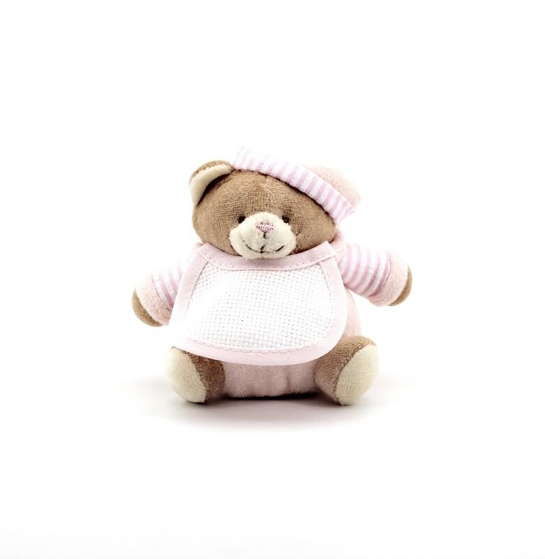 Orsetto rosa mini con cappello  Pz. 1