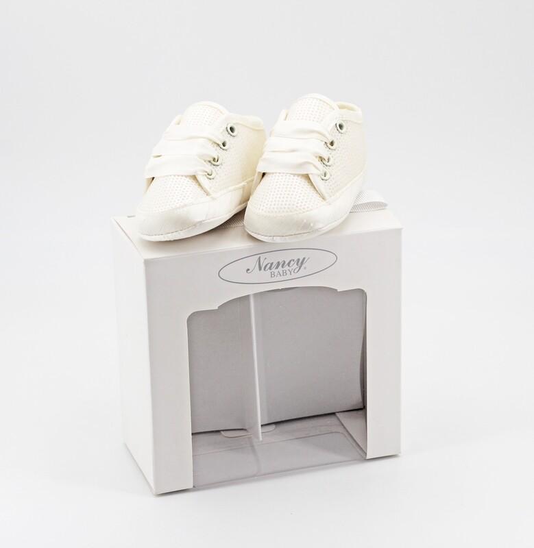 Scarpine neonato perlate con paillettes misura 16 Pz. 1