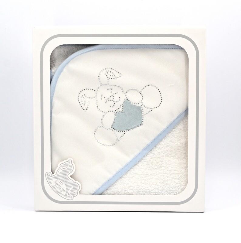 Accappatoio per neonato in spugna con manopola Pz.1