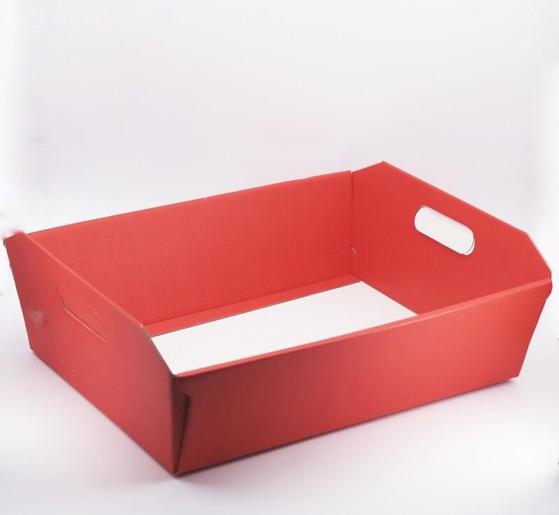 Scatolo cesto seta rosso grande Pz. 2