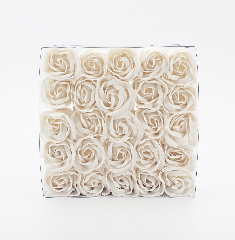 Saponetta set rose white Pz.1