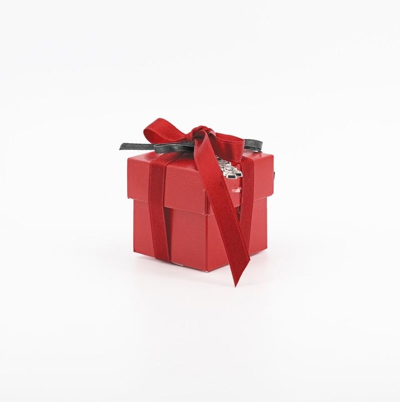 Scatolo fondo e coperchio lino rosso Pz. 10