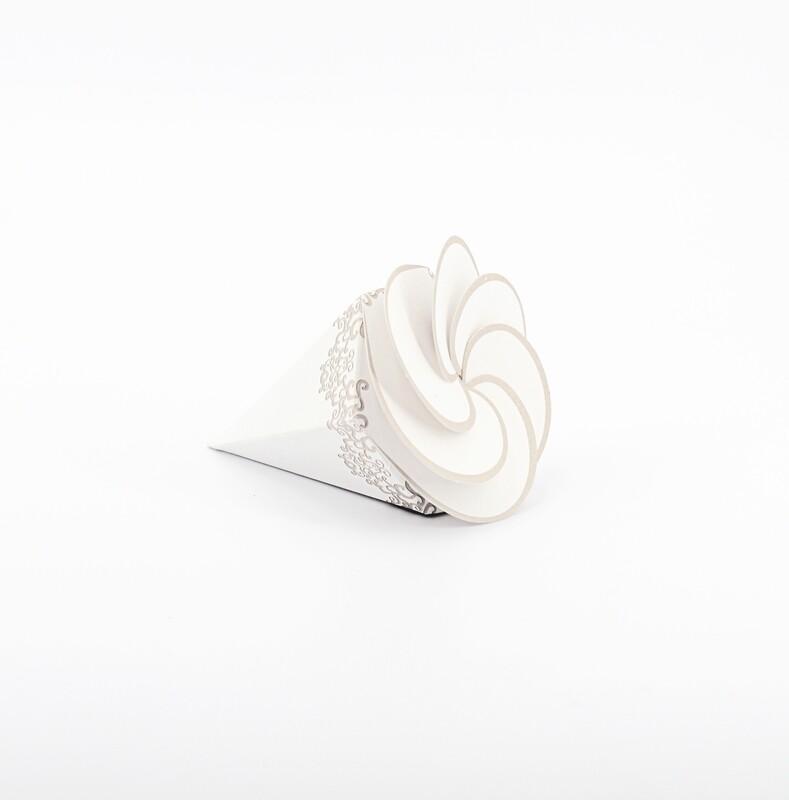 Cono spirale bianco Pz. 10