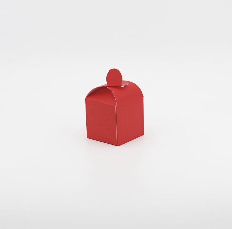 Scatola cubetto seta rosso Pz.10