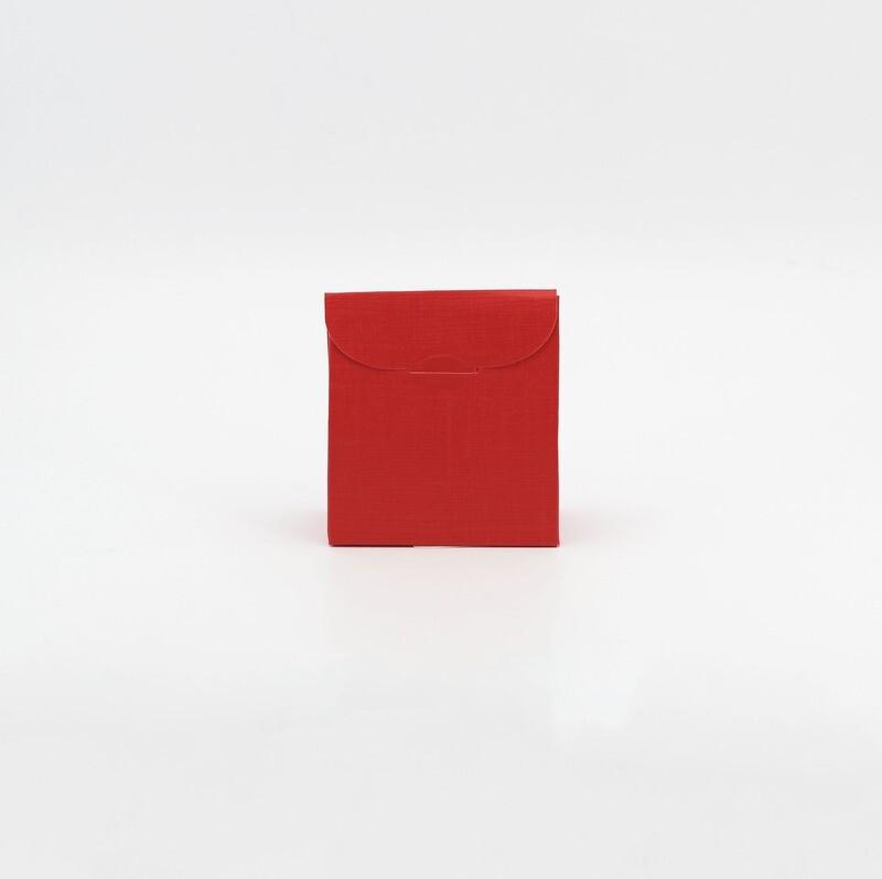 Scatola sacchetto seta rosso Pz.10