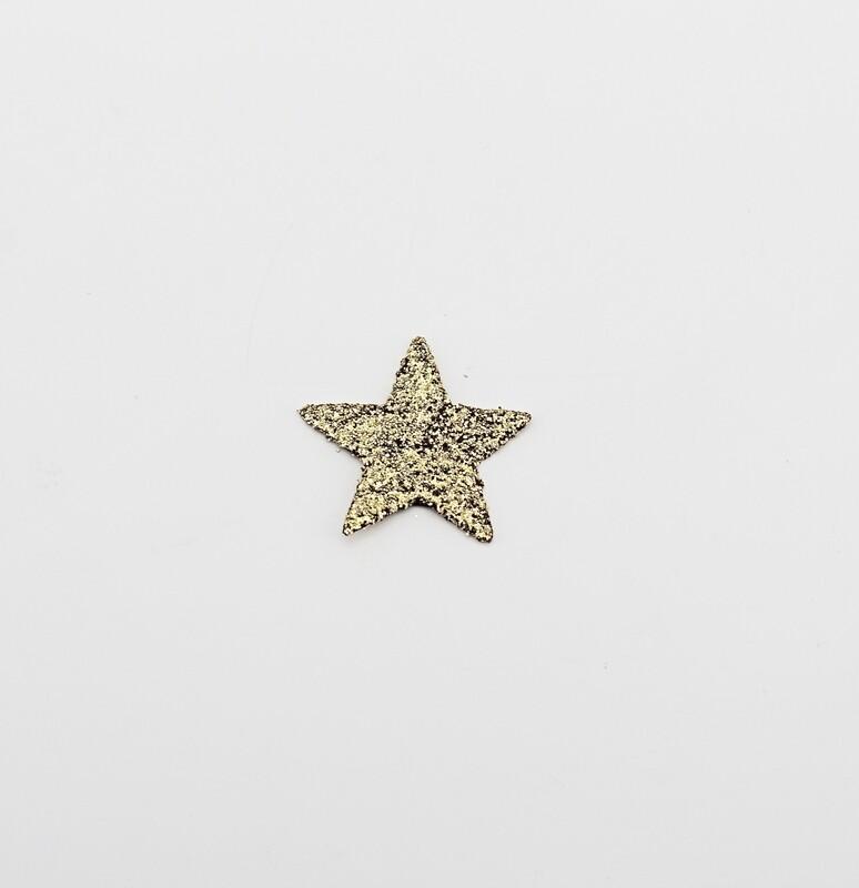 Applicazione set 120 stelle glitter oro Pz.1