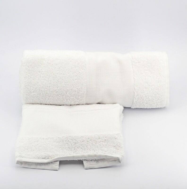 Set asciugamani da bagno bianco Pz. 1