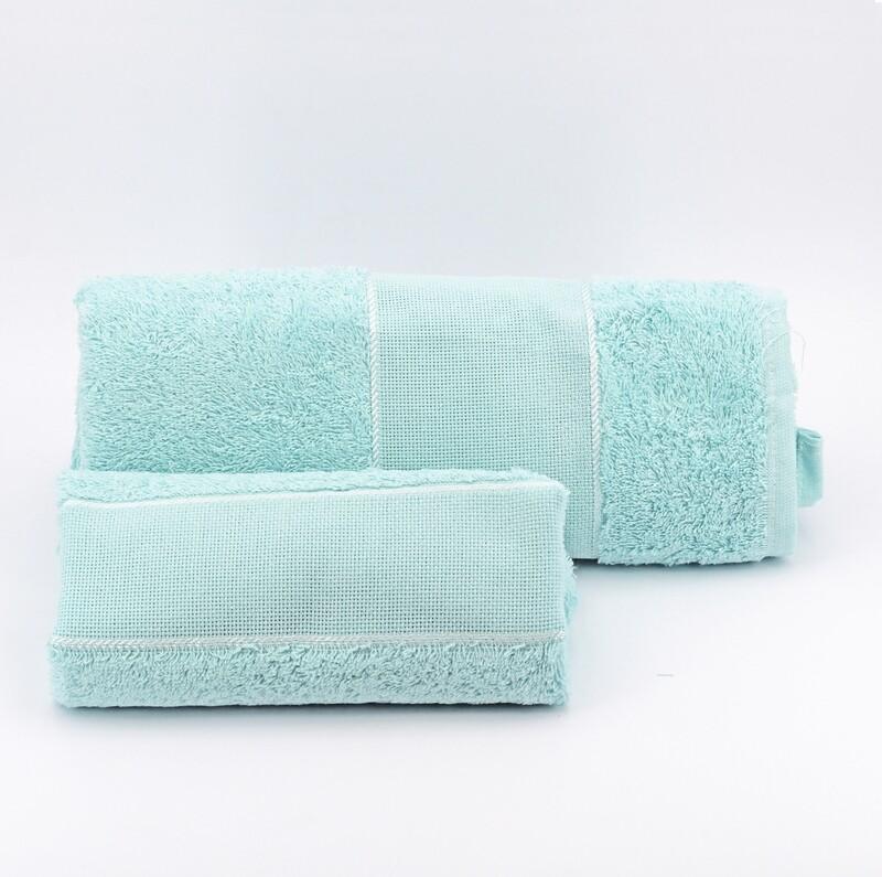 Set asciugamani da bagno verde Pz. 1