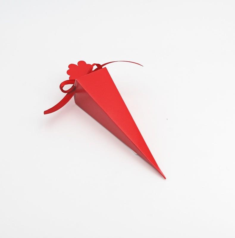 Cono quadrato lino rosso Pz.10