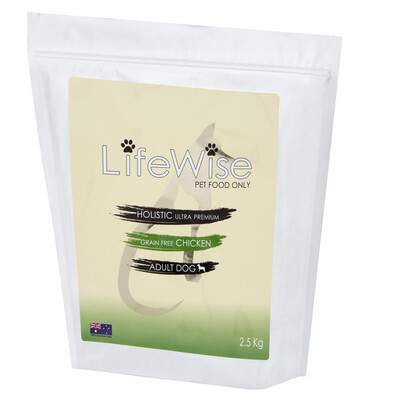 AVAILABLE IN STORE ONLY.        LifeWise Grain Free Chicken 2.5 Kg