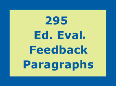 Ed Eval Feedback Paragraphs For Teachers and Clinical Staff -12 month subscription