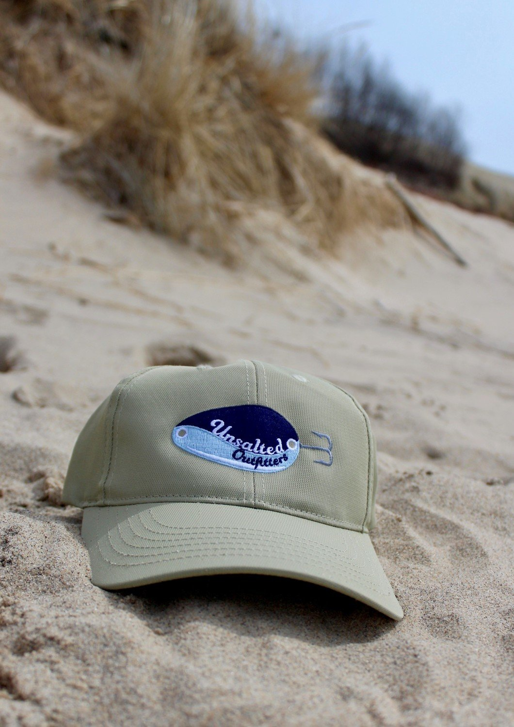 Embroidered Tall Khaki Hat