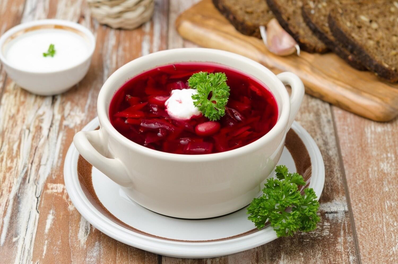 Суп Борщ по-домашнему с курицей(250 гр)