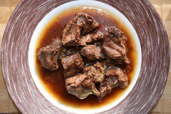 Мясо лося в собственном соку