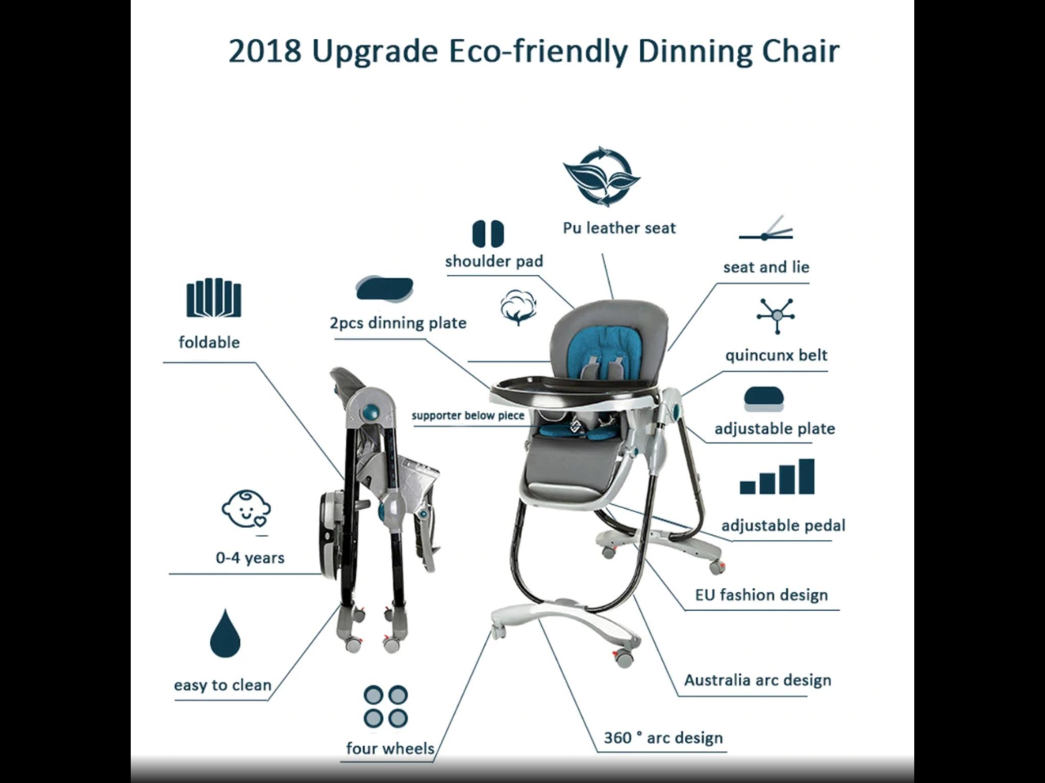 Luxury Multifunctional Baby High Chair
