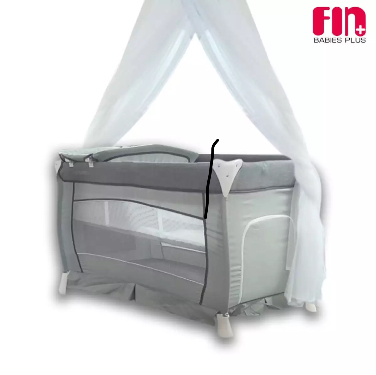 Luxury Portable Baby Cot with Linen and Mosquito Net