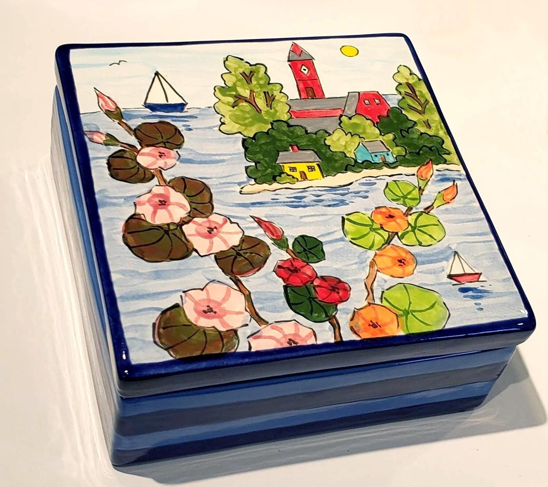 Marblehead Ceramics  Jewelry Box