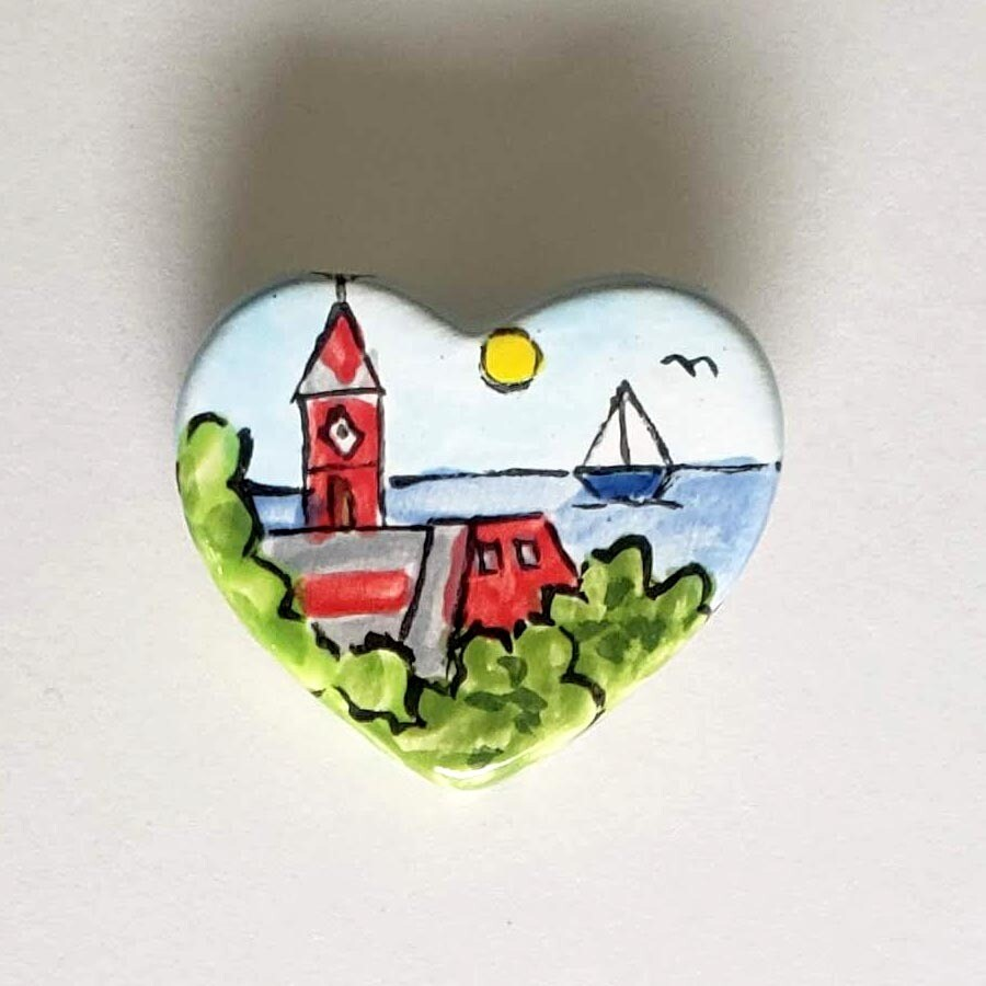 Ceramic Heart Pins