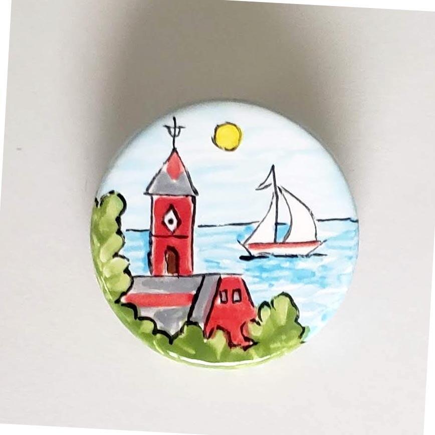 Ceramic Circle Pins