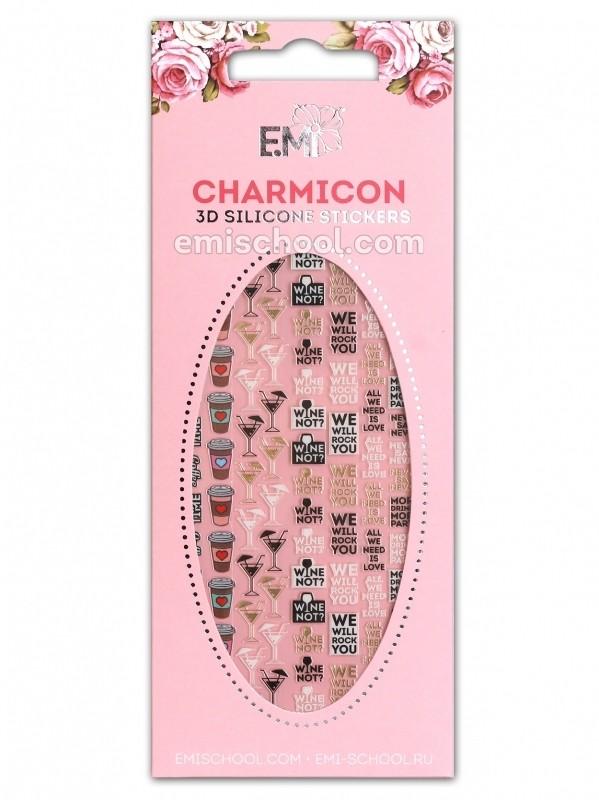 Charmicon 3D Silicone Stickers #84 Phrases