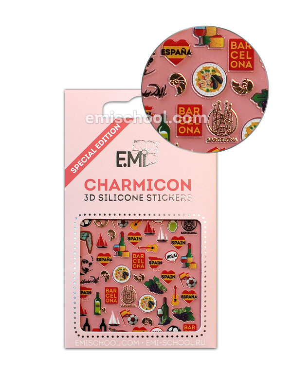 Charmicon 3D Silicone Stickers Spain 2