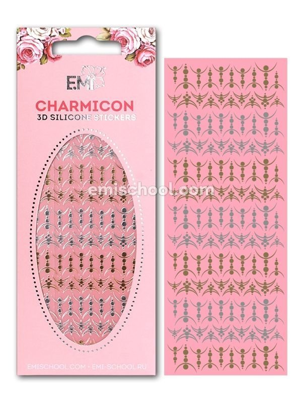 Charmicon 3D Silicone Stickers Lunula #27 Gold/Silver