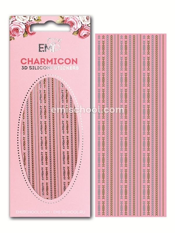 Charmicon 3D Silicone Stickers Chain #4 Gold/Silver