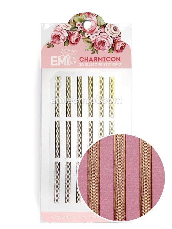Charmicon 3D Silicone Stickers Ornament Gold #5