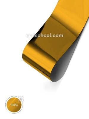 Foil glossy Yellow Copper, 1.5 m.